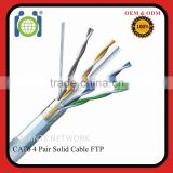 Pass fluke test Cat6 standard FTP 305M shielded Network Cable