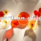 Red Fused Art Glass Wall Flower