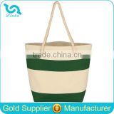 Custom Canvas Tote Bag Rope Handle Cruising Canvas Tote With Rope Handles