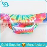 2016 New Fashion Tye Dye Polyester Water Resistant Waist Bag