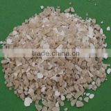 snow & ice melting agent calcium chloride white, crystal substance in the form of flake, granule, pellet or powder