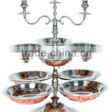 Dish & Bowl with Candle Stand , Wedding & Party utensils, food serving dish, Catering item, Hotel & Restaurant utensils