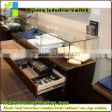 customized jewelry wood shop counter design/jewelry store design
