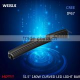 super bright 31.5 inch 180w curved spot flood led light bar on jeep roof                                                                                                         Supplier's Choice