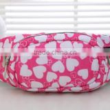 Most Popular Printing Polyester Walking Bag Customizable Multi-compartments Waist Bag