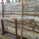 Cheap wooden brown white yellow onyx marble tile slab