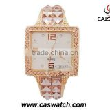 fashion custom rose gold women bling diamond watch real diamonds bracelet watches luxury diamonds watch for ladies