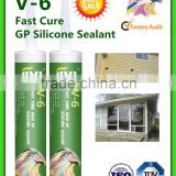 rapid cure silicone sealant V6 for sanitary with strong adhesion