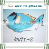 Factory Polyresin tropical blue fish ornament