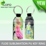 New Factory Wholesale Flexi Sublimation PU Key Ring