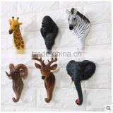 Fashion resin clothes decorative animal wall hook for bar for home decor                                                                                                         Supplier's Choice