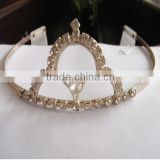 fashion gold plated cheap pageant crown manufacturer