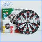 15'' flocked dartboard with color box