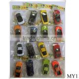 2016 hot selling sliding cars diecast cars with great price ,free wheel car toys 16 models