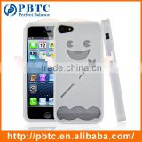 Set Screen Protector And Case For Iphone 5 , White Angel Silicon Waterproof Cover Mobile Phone