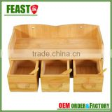 New style fashion bamboo drawer organizer
