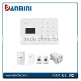 Danmini Professional LCD home security GSM alarm system , gsm sms alarm with built-in keypad / battery backup for home Security