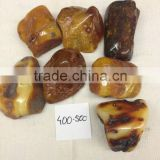 Natural Baltic amber stone 400-500 polished