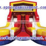 Interesting outdoor high quality giant inflatable slide with dual lanes, inflatable water slide, inflatables SP-SL123
