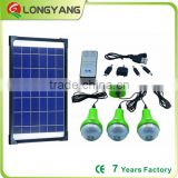 10W Energy saving solar lighting product remote control solar led light kit 9000Mah battery inside