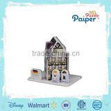 Kids paper house paper model world puzzle