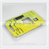 Plastic PET PVC blister clamshell packaging with color insert paper card for iphone adaptor