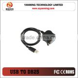 USB to serial DB25 Female Parallel Port printer Cable Adapter
