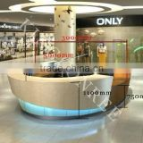 custom made solid surface acrylic translucent reception desk