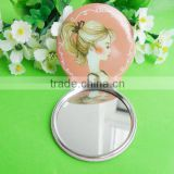 Fashionable Fancy Double Sides Metal Pocket Mirror