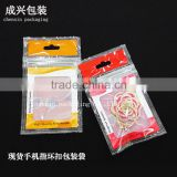 cheap plastic bag printing for the mobile ring laminated poly bag Red Orange printed zipper bag