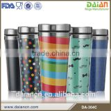 Wholesale stainless steel travel mug picture insert for water