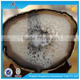 HJT best sell blue agate slabs &slices for countertop