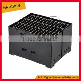 A502 black outdoor stainless steel foldable picnic charcoal BBQ charcoal grill