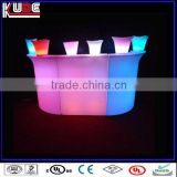 LED illuminated bar furniture modern commercial wine sectional bar counter design for sale