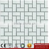 IMARK China Manufacturing White Color Ceramic Mosaic Tile For Wall Backsplash Decoration