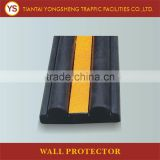 Yellow Reflective Rubber Wall Protectors With Different Sizes