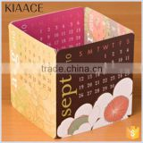 China professional custom desk table 2015 calendars print