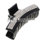 Black Crystal Rhinestone Claw Hair Clip Barrette Hairpin Hairwear Clamp Hair Accessories for Women