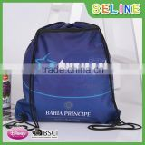 Seline wholesale customized promotional polyester sublimation drawstring bag