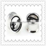 gun design ear plug tunnel ear ring free sample body piercing jewelry