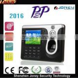 3.2 inch TFT Color Screen fingerprint real time recorder biometric time attendance machine with p2p function (JYF-C101)