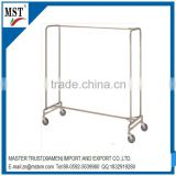 Stainless steel four wheel sliding suspension type wire clothes rack/china suppliers/new products