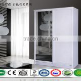 OEM supported E1 mdf panel material sliding door wardrobe with high gloss surfaced