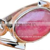Top Quality Rhodochrosite Jewelry Threader Earrings Gold Solitaire Diamond Rings
