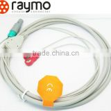 male female push pull plastic medical connectors with cables ecg cable