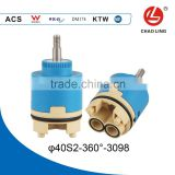 360 degree 40mm copper rod Ceramic Cartridge for tap spindle cartridge
