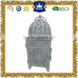 White small Moroccan metal lantern for wedding decoration
