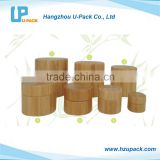 2016 New recycled bamboo cosmetic jar wooden cream jar
