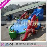 2015 hot sell Dinosaur theme inflatable water park, inflatable water park with pool n slides,water park equiqmeht for sale
