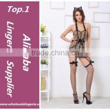 Leopard print sexy babydoll tight lingerie bulk cat women costume